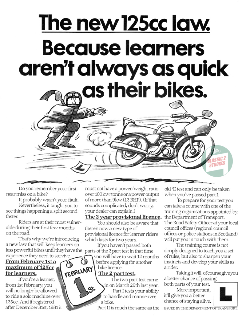 Learner Legal 125cc Law 1983